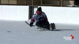 Calgarians hope to open outdoor rink to sledge hockey players: 'Absolute game-changer'